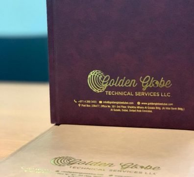 Gold Foiled Leather Diaries